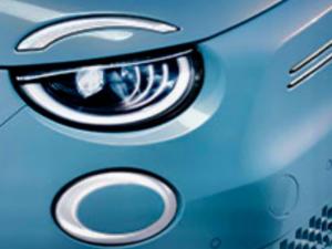 Fiat 500e B Dettaaglio faro ant