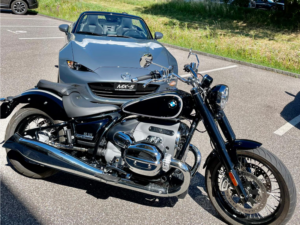 mazda mx5 profilo anteriore vs. moto
