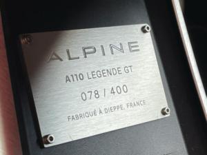 Renault Alpine A110 id produzione