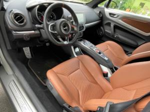 Renault Alpine A110 seduta anteriore